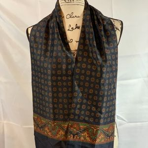 Navy Paisley design Thick material